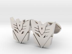 decepticons cufflinks  in Rhodium Plated Brass