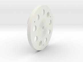Dens Spinner Backplate 3 Blade in White Natural Versatile Plastic