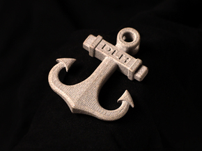 Anchor Pendant (CustomMaker) in Polished Bronzed Silver Steel