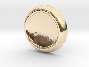 Kanoka disk in 14K Yellow Gold