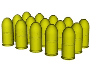 1/24 scale M-781 40x46mm grenades x 15 in Smooth Fine Detail Plastic