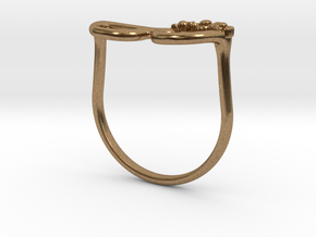 Glass Ring in Natural Brass: 8.5 / 58