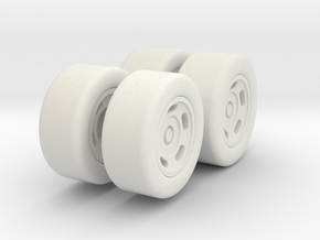 Spyhunter Car Wheels in White Natural Versatile Plastic