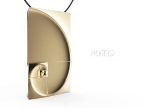 30% OFF for Limited Time Only! - Aureo Plano 01 in Matte Gold Steel