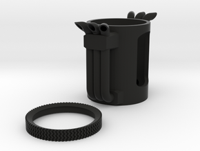 BFT Smoke Stacks in Black Natural Versatile Plastic