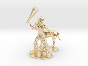 Bobby the Barbarian & Uni Miniatures in 14k Gold Plated: 1:60.96
