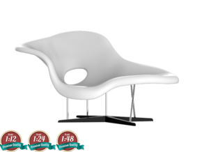 Miniature Eames La Chaise - Ray & Charles Eames in White Strong & Flexible: 1:24