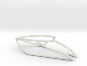 Yacht scale 1-100 in White Natural Versatile Plastic: 1:100