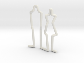 Family Couple scale 1-100 in White Natural Versatile Plastic: 1:100