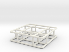 Bench 4 scale 1-100 in White Strong & Flexible: 1:100
