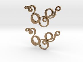 Earring Model Z Pair in Natural Brass