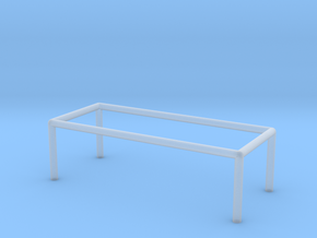 Table 1-100 300x120x90 Cm in Smooth Fine Detail Plastic: 1:100