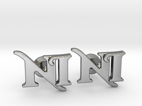 Monogram Cufflinks NI in Polished Silver