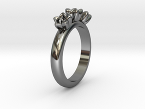 Flower ring in Premium Silver