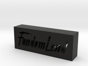 FandomLand Logo in Black Natural Versatile Plastic