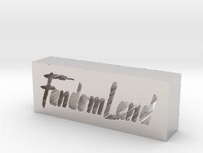 FandomLand Logo in Platinum