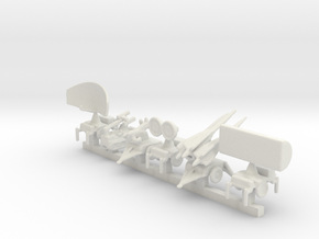 1/285 Scale Hawk Missile System in White Natural Versatile Plastic