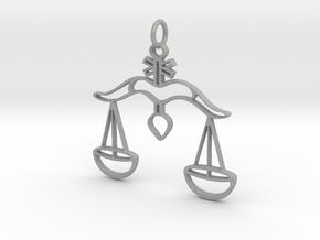 Scales of Justice Pendant in Aluminum