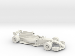 F1 2017 car 1/18 in White Strong & Flexible