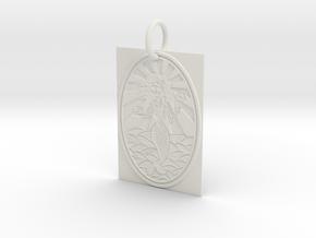 Dead Mermaid Keychain in White Natural Versatile Plastic