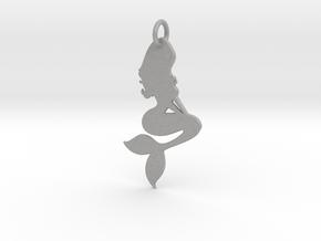 Mermaid Pendant in Aluminum