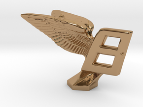 Hood Ornament for Bentley in Polished Brass
