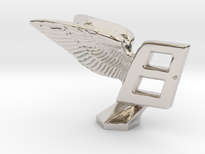 Hood Ornament for Bentley in Rhodium Plated Brass
