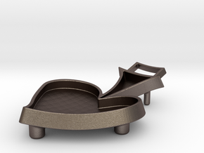 BBQ Presentation Dish in Polished Bronzed Silver Steel