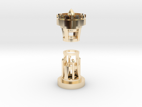Crystal chamber Saber Plug in 14K Yellow Gold