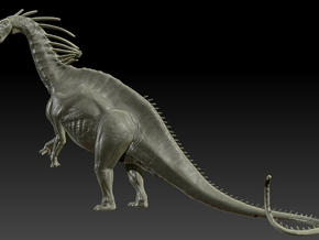 1/40 Amargasaurus - Rearing in White Strong & Flexible