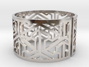 Bracelet AQ (1) in Rhodium Plated Brass
