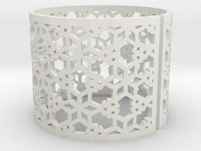 Bracelet AQ (3) in White Natural Versatile Plastic