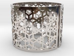 Bracelet AQ (3) in Rhodium Plated Brass