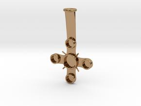 """Plume Holder """"Christopho"""" in Polished Brass"""