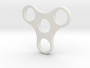 Spinning Fidget Toy in White Natural Versatile Plastic