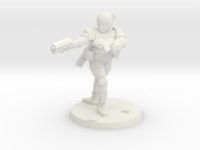Female Combat Armour 6 in White Natural Versatile Plastic