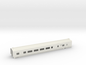 Caisse Eurostar Voiture Sécable HO in White Strong & Flexible