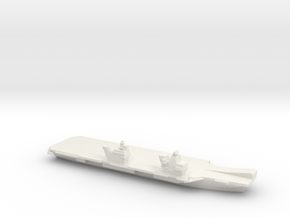 Queen Elizabeth-class aircraft carrier, 1/3000 in White Natural Versatile Plastic
