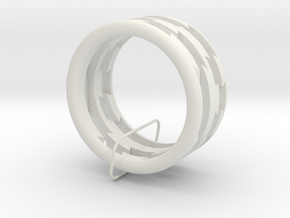 Plastic Puzzle Rings! (3-piece set, Size 9) in White Natural Versatile Plastic