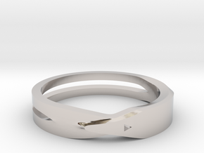 Wedding Ring in Rhodium Plated Brass