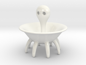 Miss Octopus ø12cm in Gloss White Porcelain