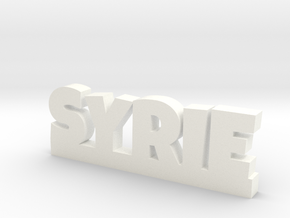 SYRIE Lucky in White Processed Versatile Plastic