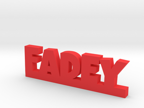 FADEY Lucky in Red Processed Versatile Plastic