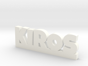 KIROS Lucky in White Processed Versatile Plastic