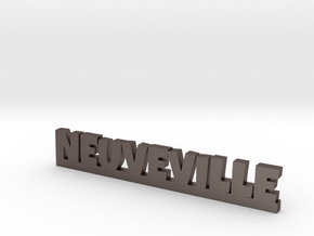 NEUVEVILLE Lucky in Polished Bronzed Silver Steel