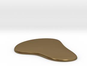 Liquid Drop Large 5.2x5.7 cm  in Polished Bronze