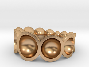 spheres ring bowls crescendo in Polished Bronze: 7.75 / 55.875