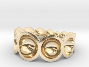 spheres ring bowls crescendo in 14k Gold Plated Brass: 7.75 / 55.875