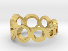 spheres circle ring crescending in Polished Brass: 7 / 54