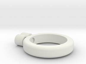 eternity ring in White Natural Versatile Plastic